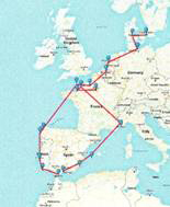 map of our itinerary
